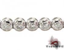 Diamond Bezel Chain 24 Inches 4mm 51.89 Grams ダイヤモンド チェーン