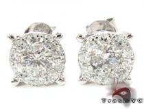 Surround Diamond Earrings 3 Mens Stud Earrings
