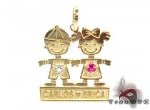 Little Kid Couple Gold Pendant Gold Pendants