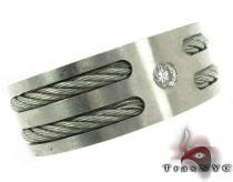 Stainless Steel Solitare Ring Men Summer Deal
