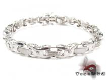 White Diamond Silver Bracelet Sterling Silver Bracelets