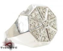 Octagon Silver Diamond Ring メンズ シルバー リング