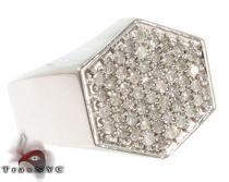 Hexagon Silver Diamond Ring メンズ シルバー リング
