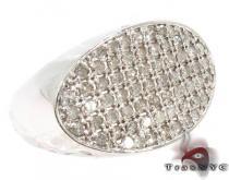 Oval Silver Diamond Ring メンズ シルバー リング