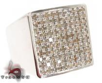Square Silver Diamond Ring メンズ シルバー リング