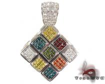 Custom Rubik's Cube Diamond Pendant Diamond Pendants