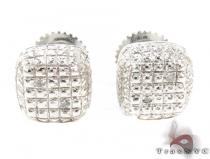 Silver Diamond Stud Earrings 28113 Sterling Silver Earrings