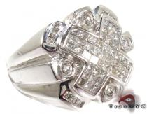 Invisible Bezel Diamond Ring 28129 Mens Diamond Rings