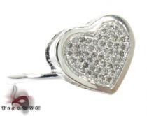 Heart Diamond Ring 28145 Silver Rings For Women