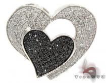 Two Color Diamond Heart Pendant 28257 Diamond Heart Pendants