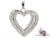 Prong Diamond Heart Pendant 28269 Diamond Heart Pendants
