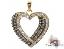 Two Color Diamond Heart Pendant 28279 Diamond Heart Pendants