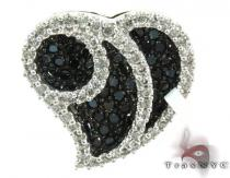 Two Color Diamond Heart Pendant 28281 Diamond Heart Pendants
