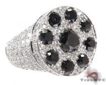Two Color Diamond Ring 28299 Mens Black Diamond Rings