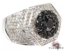 Two Color Diamond Ring 28300 Mens Black Diamond Rings