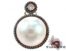 Pearl Diamond Earrings 28304 Stone