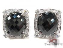 Black and White Diamond Cuff Mens Diamond Earrings