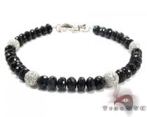 Black and White Diamond Bracelet 28322 Mens Diamond Bracelets