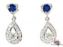 Ceylon Sapphire Diamond Earrings ダイヤモンド シャンデリアイヤリング