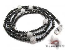 Black and White Diamond Chain 32 Inches, 10mm ダイヤモンド チェーン