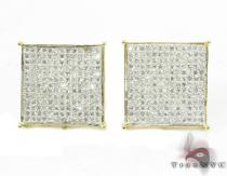 White Pave XL Earrings Mens Diamond Earrings