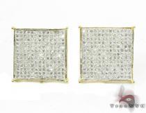 White Pave XL Earrings Mens Diamond Earrings