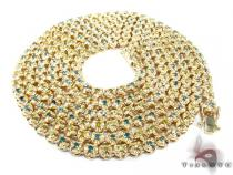 Canary and Blue Diamond Chain 54 Inches, 5mm, 160.1 Grams ダイヤモンド チェーン