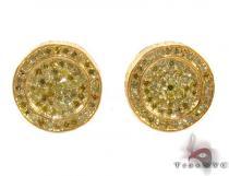 Silver Canary Diamond Earrings 28524 Stone