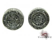 Silver Black Diamond Earrings 28525 Mens Diamond Earrings