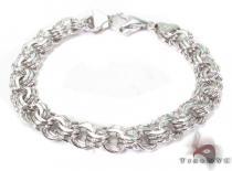 14K White Gold Charm Bracelet ゴールドブレスレット
