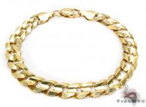 14K Yellow Gold Cuban Bracelet Gold Mens Bracelets