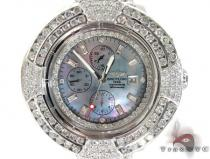 Breitling 14K Gold Mother of Pearl Dial Full Diamond Watch ブライトリング Breitling