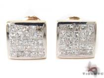 Invisible Diamond Earrings 28696 Mens Diamond Earrings