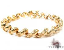 14K Yellow Gold Sain Marco Matte Bracelet ゴールドブレスレット