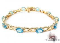 14K Yellow Gold Gemstone Bracelet Gold Bracelets