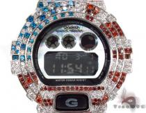 G-Shock Metal-like finish Watch DW-6900HM-2 with American Flag Case G-Shock