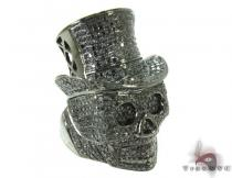 Rich Boy Skull Diamond Ring Mens Black Diamond Rings