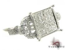 Prong Diamond Ring 28830 Silver Rings For Women