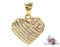 Channel Diamond Pendant 28941 Diamond Heart Pendants