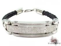 Prong Diamond Bracelet 28945 Stainless Steel