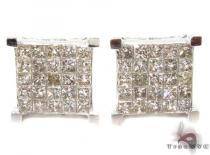 Invisible Diamond Earrings 28990 Mens Diamond Earrings