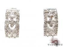 Bezel Diamond Earrings 29076 Stone