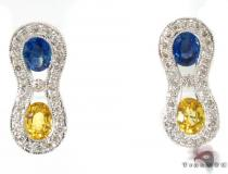 Sapphire Diamond Earrings 29094 Gemstone Earrings