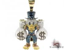 Custom Jewelry - Scrooge McDuck Blue Diamond Pendant Diamond Pendants