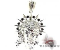 Black Diamond XL Jesus Head Pendant Diamond Jesus Piece