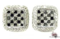 Invisible Diamond Earrings 29010 Mens Diamond Earrings