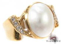 Pearl Diamond Ring 29281 Pearl Diamond Rings