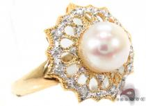Pearl Diamond Ring 29282 Pearl Diamond Rings