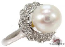 Pearl Diamond Ring 29283 Pearl Diamond Rings