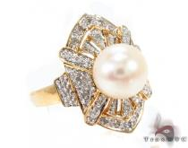 Pearl Diamond Ring 29408 Pearl Diamond Rings